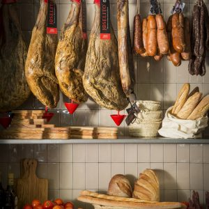 Catalan handmade sausages in Charcuteria Solomillo