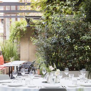 Montaje Banquete Forum A Patio-Terraza Restaurante Solomillo